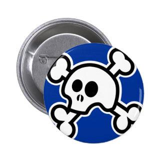 Skull 'N Bones (Blue) Button