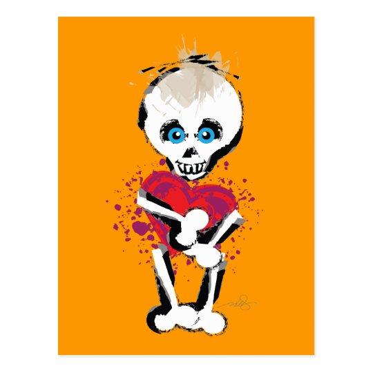 Skull 'n Bones Love Heart Postcard