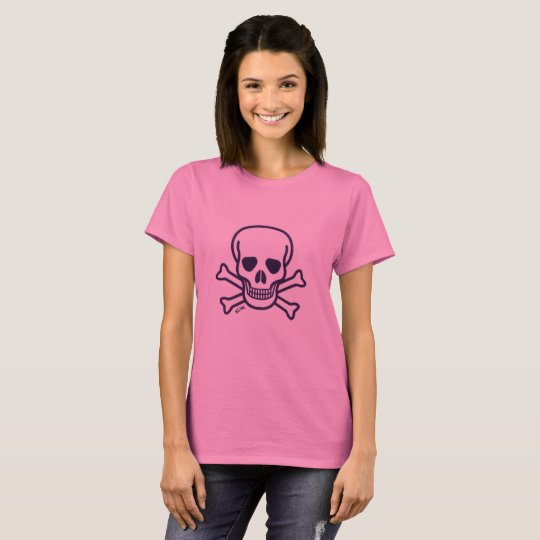 Skull n Bones pink women shirt