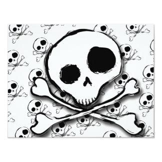 Skull N Bones with backdrop 11 Cm X 14 Cm Invitation Card