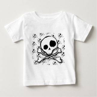Skull N Bones with backdrop Baby T-Shirt