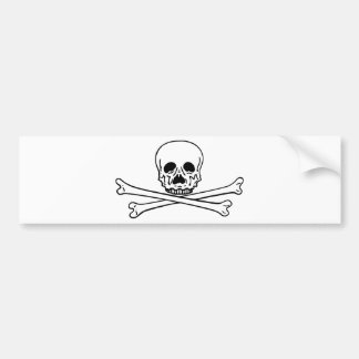 skull n cross bones bumper sticker