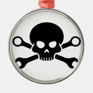 Skull 'n' Tools - Screw Pirate 1 (black) Christmas Ornament