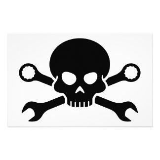 Skull 'n' Tools - Screw Pirate 1 (black) Stationery