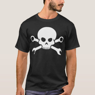 Skull 'n' Tools - Screw Pirate 1 (white) T-Shirt