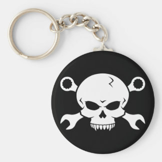 Skull 'n' Tools - Screw Pirate 2 (white) Keychains