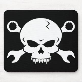 Skull 'n' Tools - Screw Pirate 2 (white) Mousepad