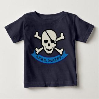 Skull - Navy Baby Fine Jersey T-Shirt