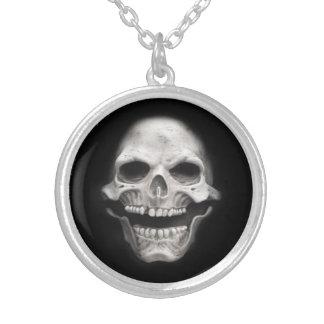 Skull Round Pendant Necklace