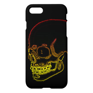 Skull neon dark look with yellow and red iPhone 8/7 case