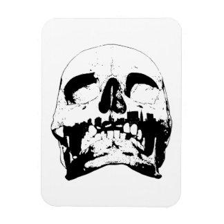 Skull - New York City Skyline Rectangular Photo Magnet