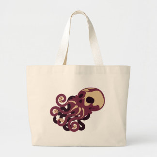 Skull Octopus Large Tote Bag