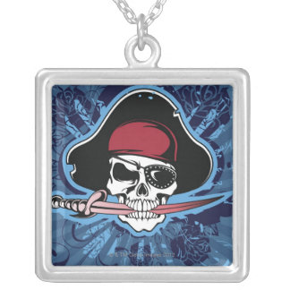 Skull of a Pirate Silver Plated Necklace