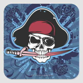 Skull of a Pirate Square Sticker