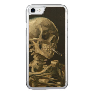 Skull of a Skeleton with Burning Cigarette by Vinc Carved iPhone 8/7 Case