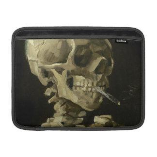Skull of a Skeleton with Burning Cigarette by Vinc MacBook Sleeve