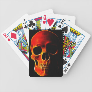 Skull of Flames Bicycle Playing Cards