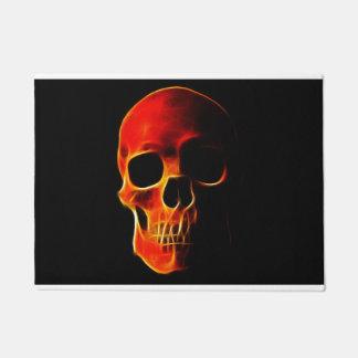 Skull of Flames Door Mat