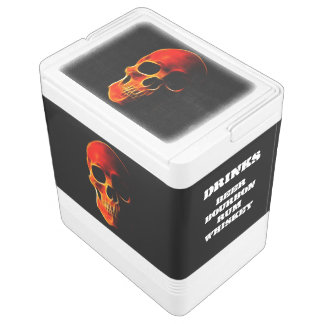 Skull of Flames Esky Cooler Igloo Cool Box