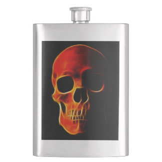 Skull of Flames Hip Flask