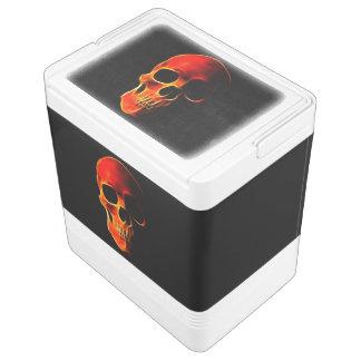 Skull of Flames Igloo Cooler