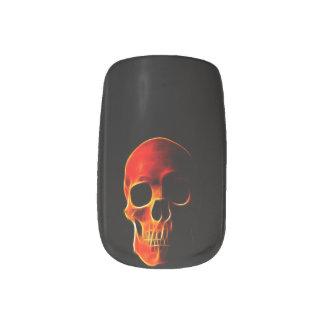Skull of flames Nails Minx Nail Art