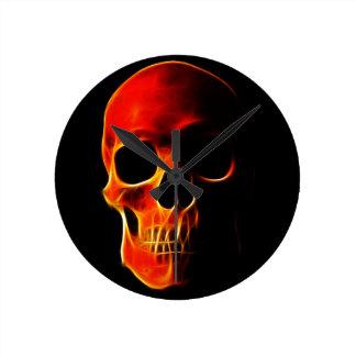 Skull of Flames Wallclocks