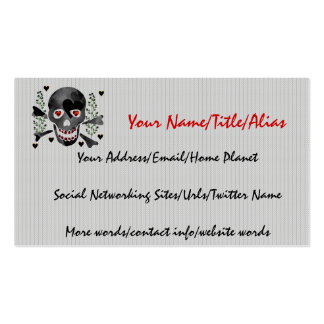 Skull of Hearts Double-Sided Standard Business Cards (Pack Of 100)