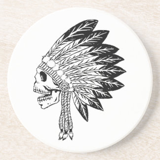 Skull Of Indian Drink Coaster