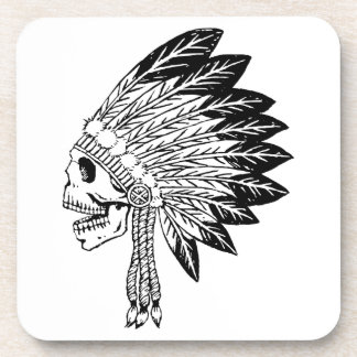 Skull Of Indian Drink Coasters