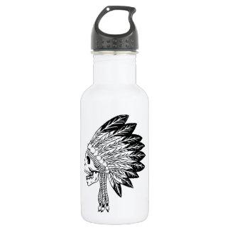 Skull Of Indian 18oz Water Bottle