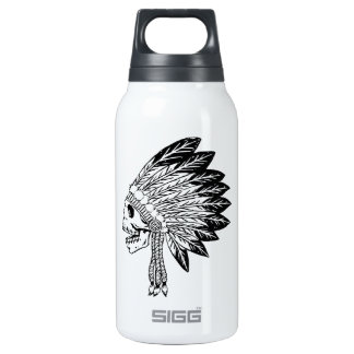Skull Of Indian 10 Oz Insulated SIGG Thermos Water Bottle