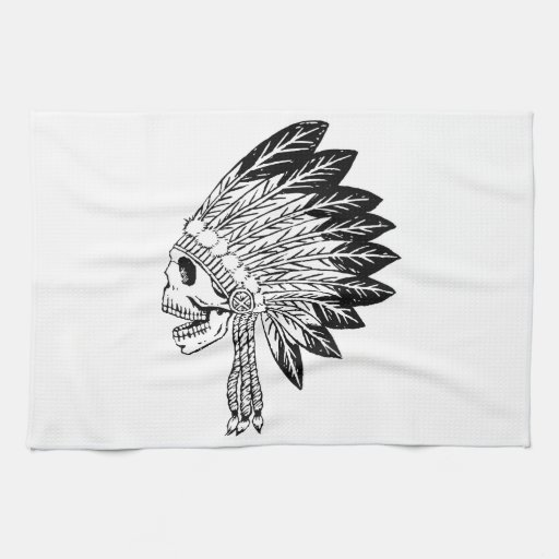 Skull Of Indian Towels