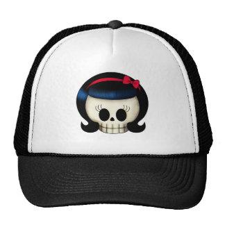 Skull of Rockabilly Girl Cap