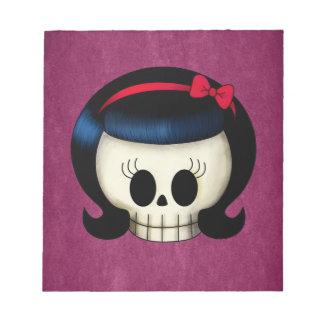 Skull of Rockabilly Girl Notepad