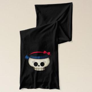 Skull of Rockabilly Girl Scarf