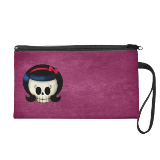 Skull of Rockabilly Girl Wristlet Purse