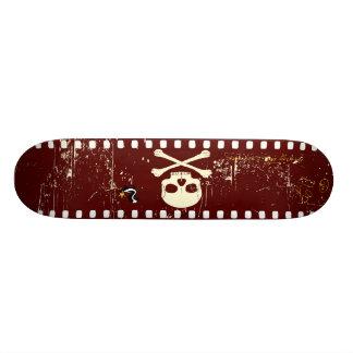 Skull On Film Custom Skate Board