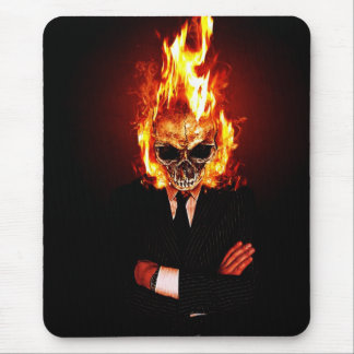 Skull one fire mouse pad