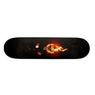 Skull one fire custom skate board