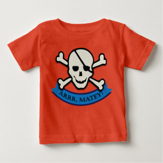 Skull - Orange Baby Fine Jersey T-Shirt