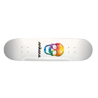 Skull Paint Drip + Ankara Logo Custom Skate Board