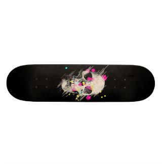 skull paint skate board