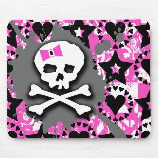 Skull Paint Splatter Mouse Pad