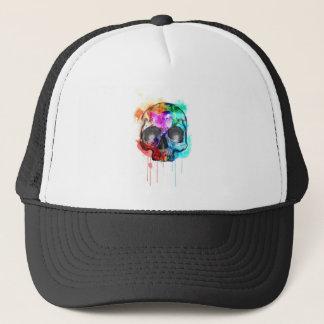 Skull Paint Splatter Trucker Hat