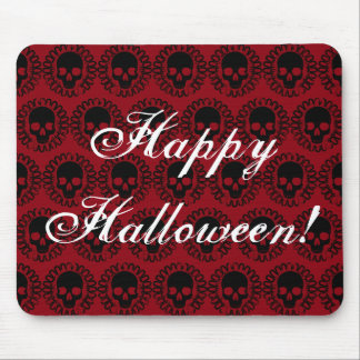 Skull Pattern Elegant Fun Halloween Goth Any Color Mouse Mat