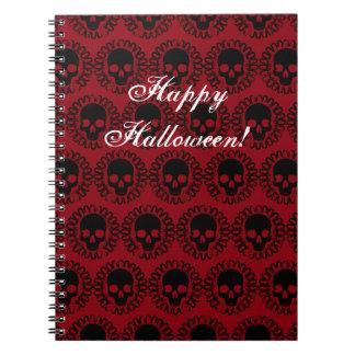 Skull Pattern Elegant Fun Halloween Goth Any Color Notebook