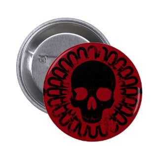 Skull Pattern Halloween Punk Goth Pick Any Color 6 Cm Round Badge
