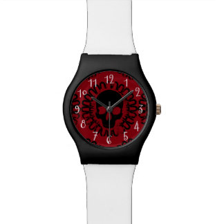 Skull Pattern Halloween Punk Goth Pick Any Color Wristwatches