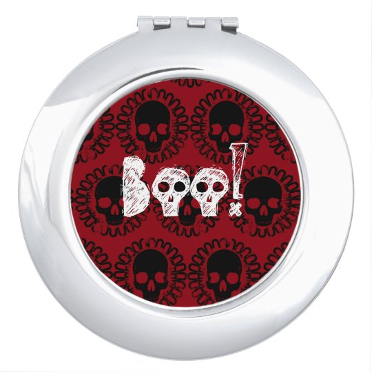 Skull Pattern Halloween Punk Goth Pick Any Colour Vanity Mirrors